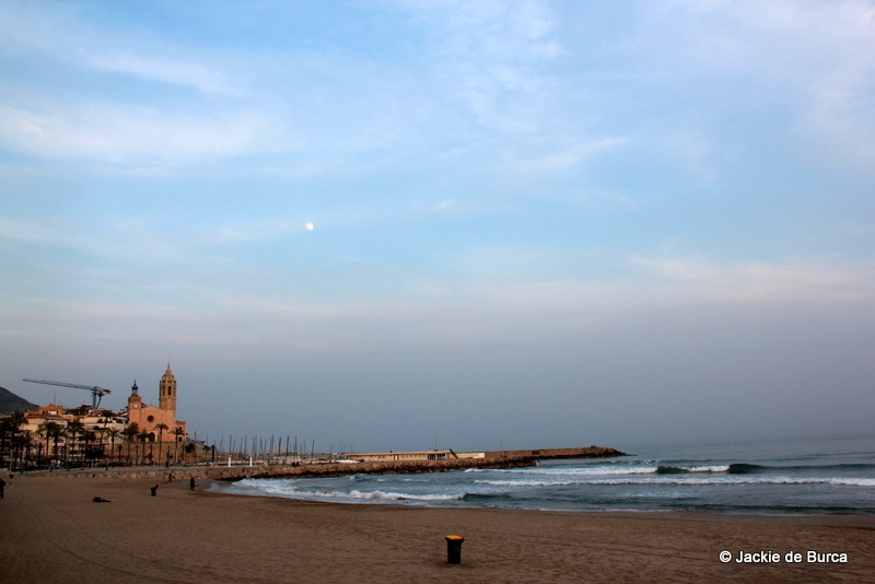 Sitges San Sebastian Beach After Dusk