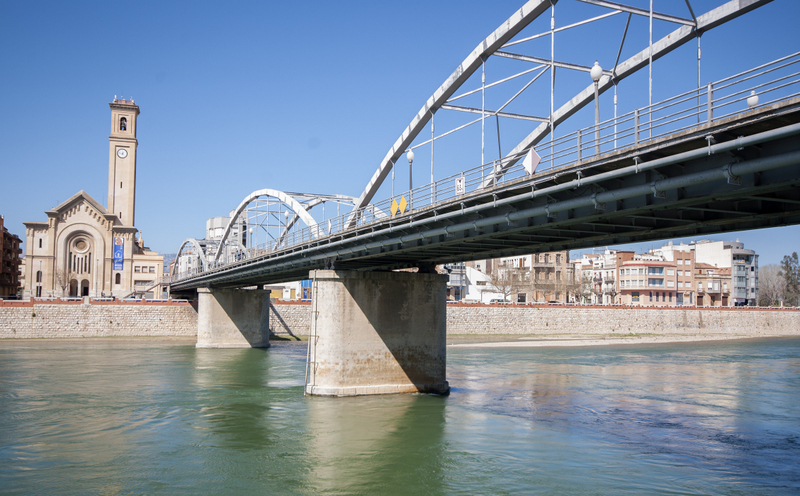Tortosa Bridge Over River Ebro