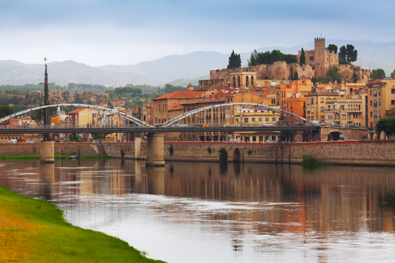 Tortosa Ebro river and Suda Castle Catalonia