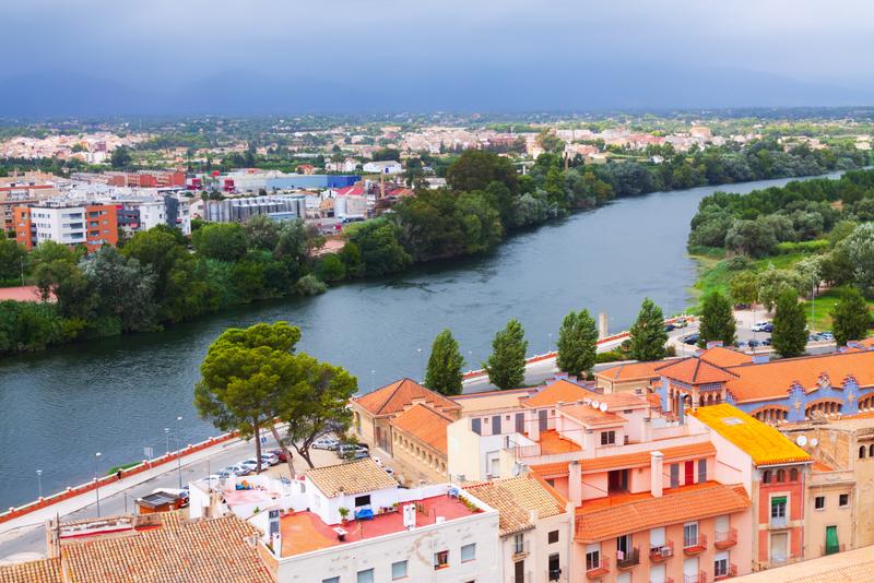 Tortosa with Ebro from Suda castle
