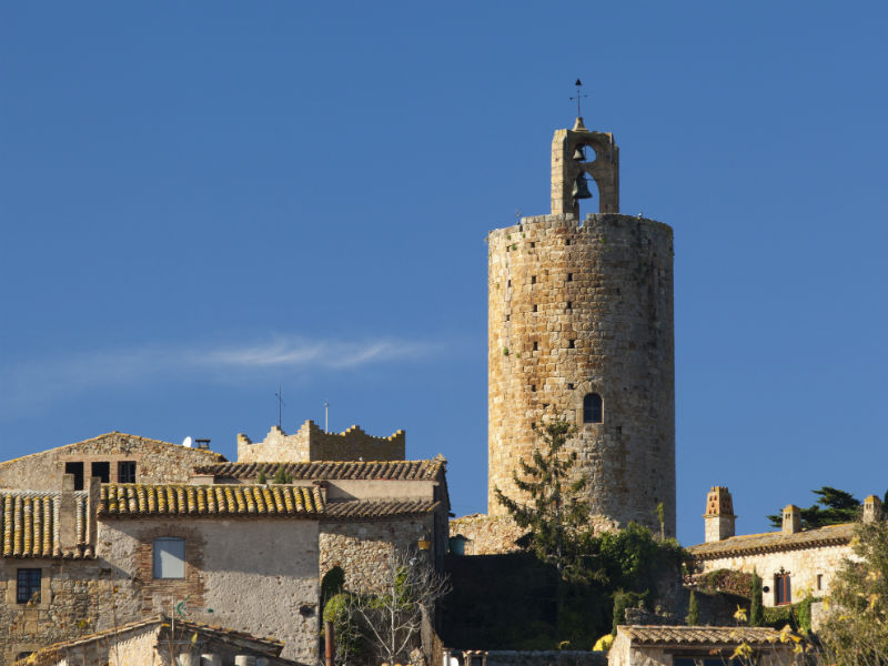 View of the Pals Tower called Torre de les Hores-1