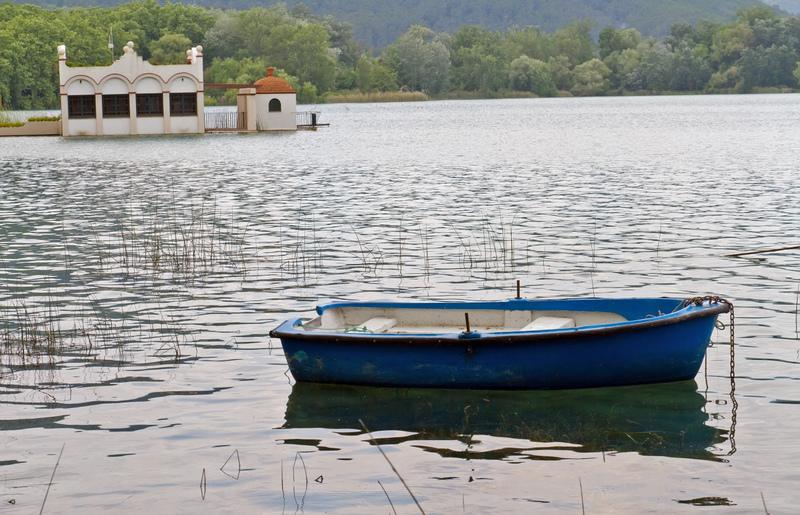Banyoles Lake Boat And Scenery