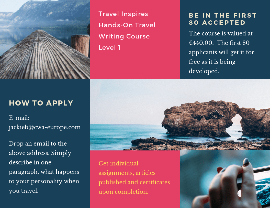 Travel Inspires Travel Writing Course Level 1-min
