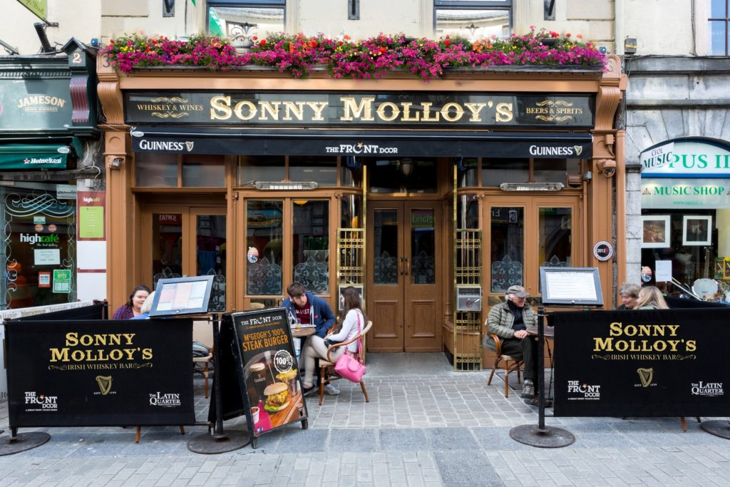 Galway Whiskey route Sonny Molloy's Exterior