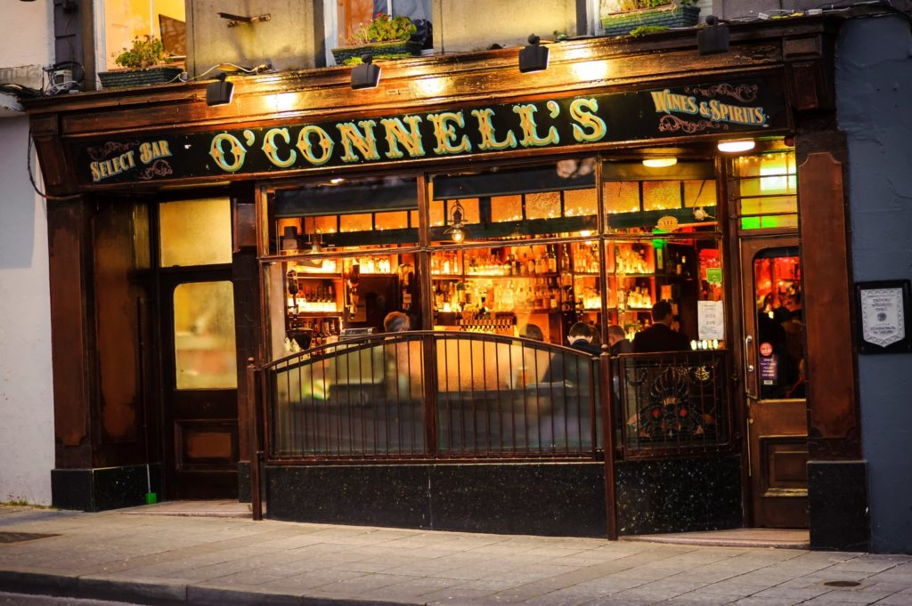 O'Connells Bar Galway Whiskey route
