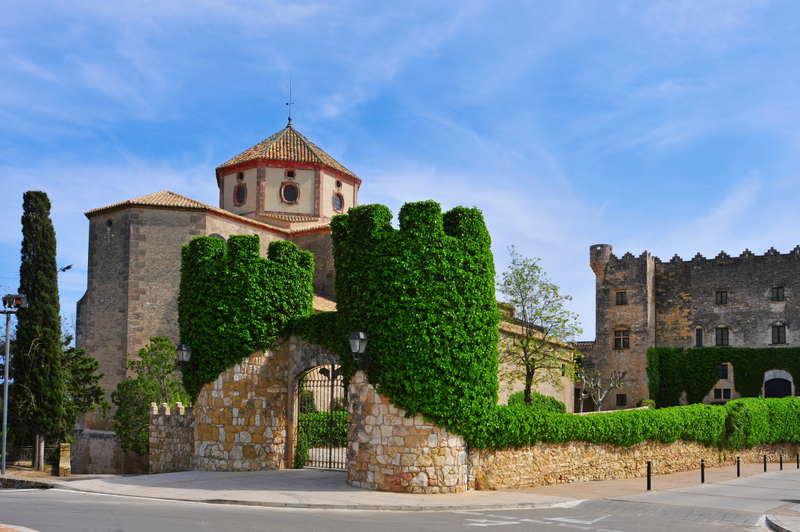 Sant Marti Church and Altafulla Castle in Altafulla