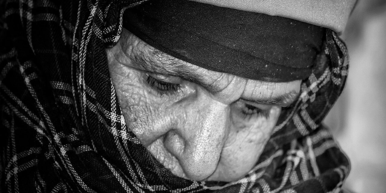 Chefchaouen Morocco families old lady