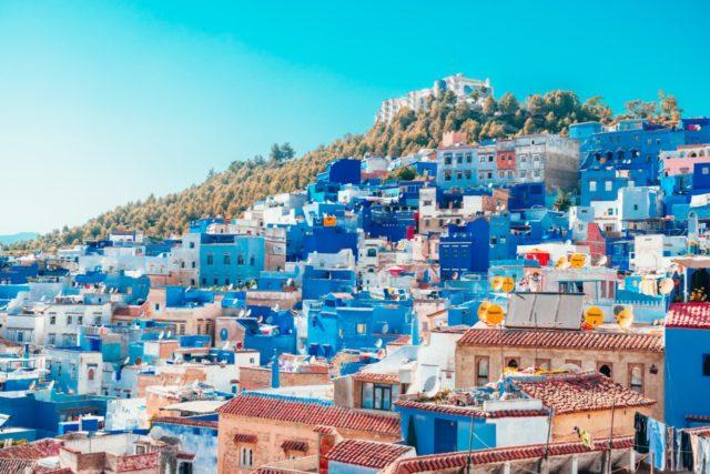 Chefchaouen-Morocco hillside view