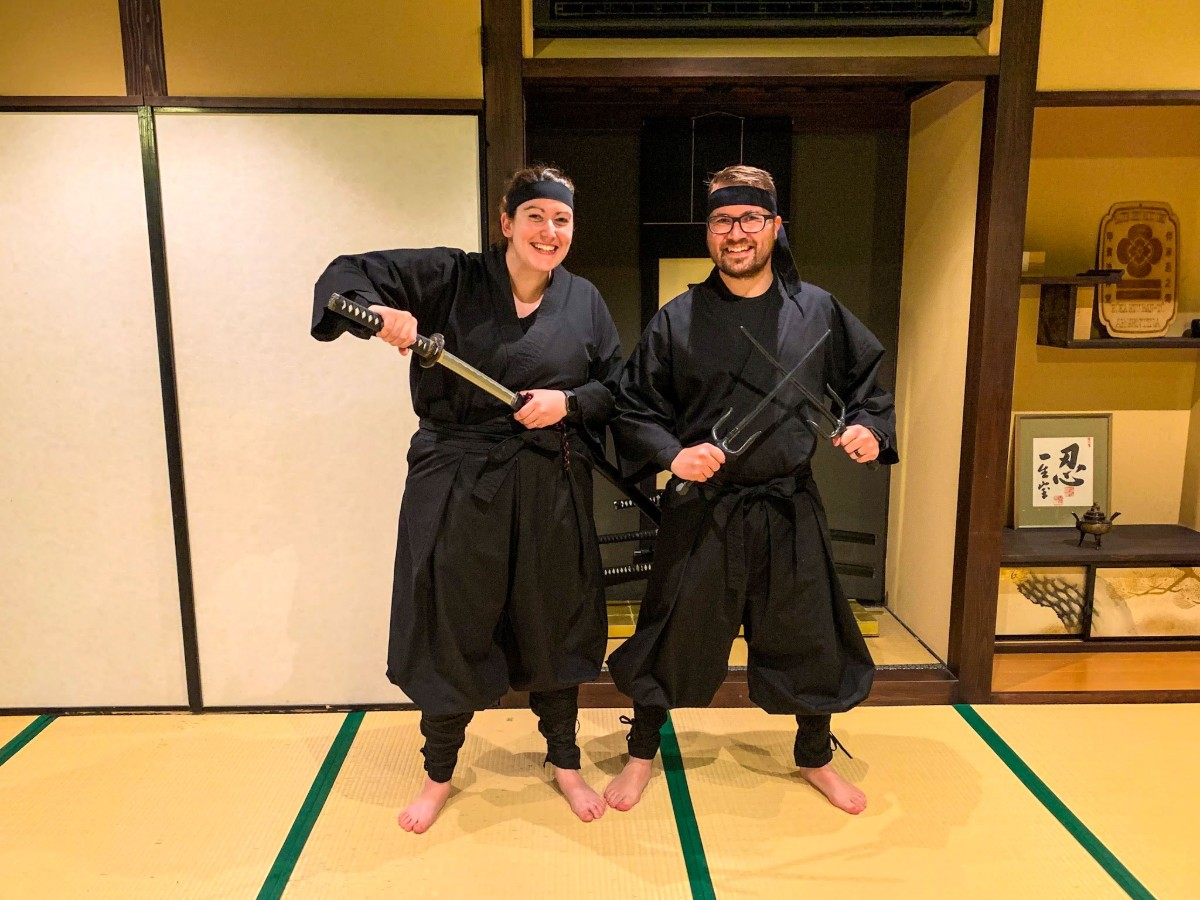 Ninja training Kyoto Japan