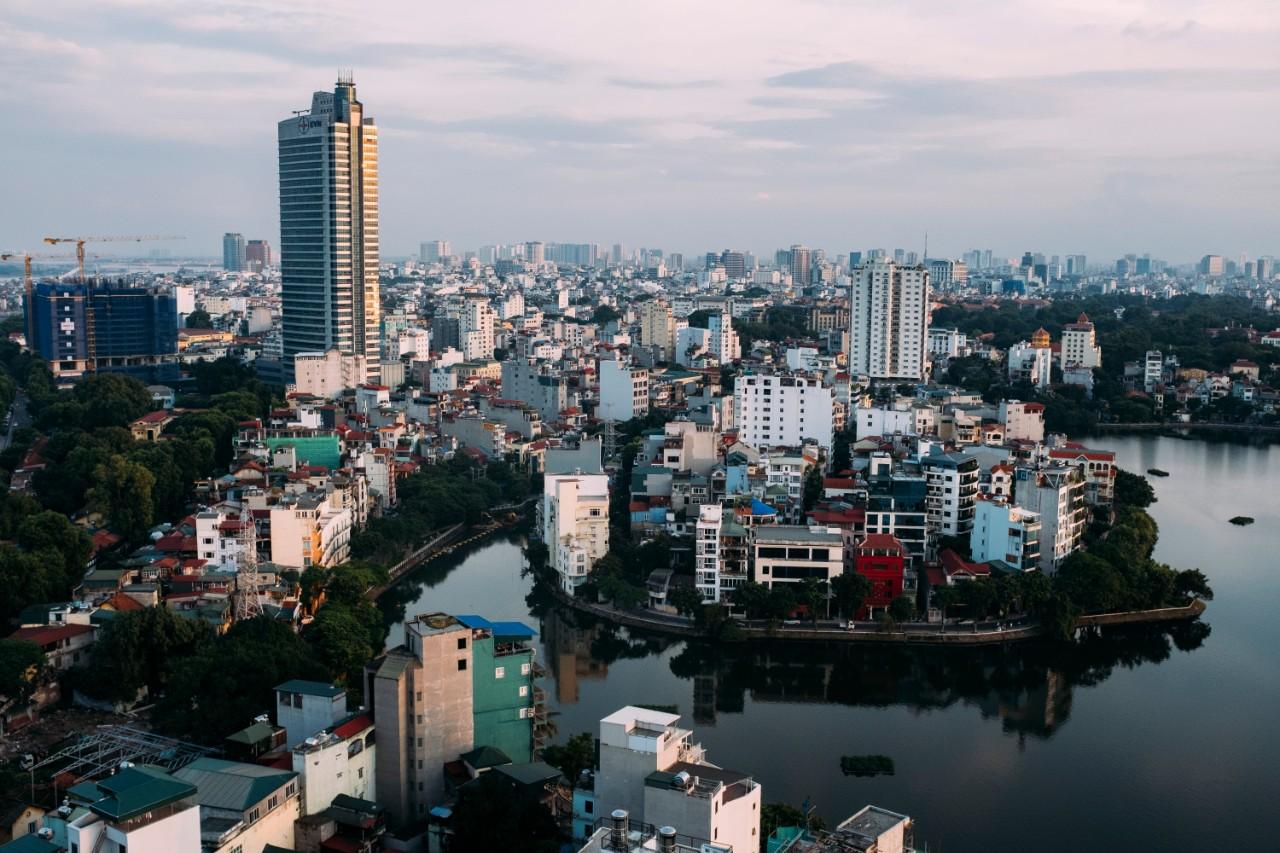 Hanoi City aerial view
