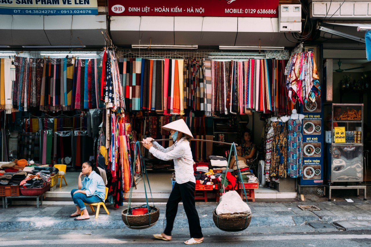 Hanoi Vietnam Street Vendor