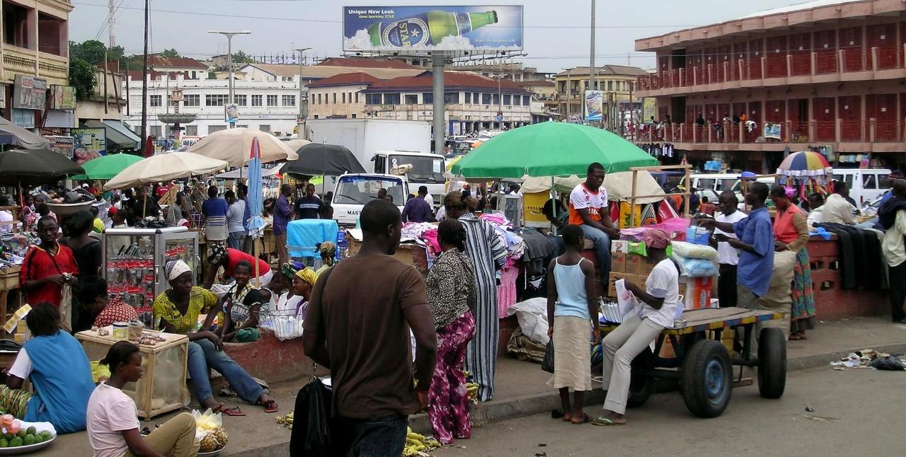 Kumasi Ghana city centre street 1