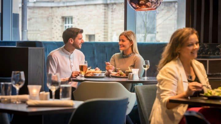 Clayton Hotel Belfast people eating