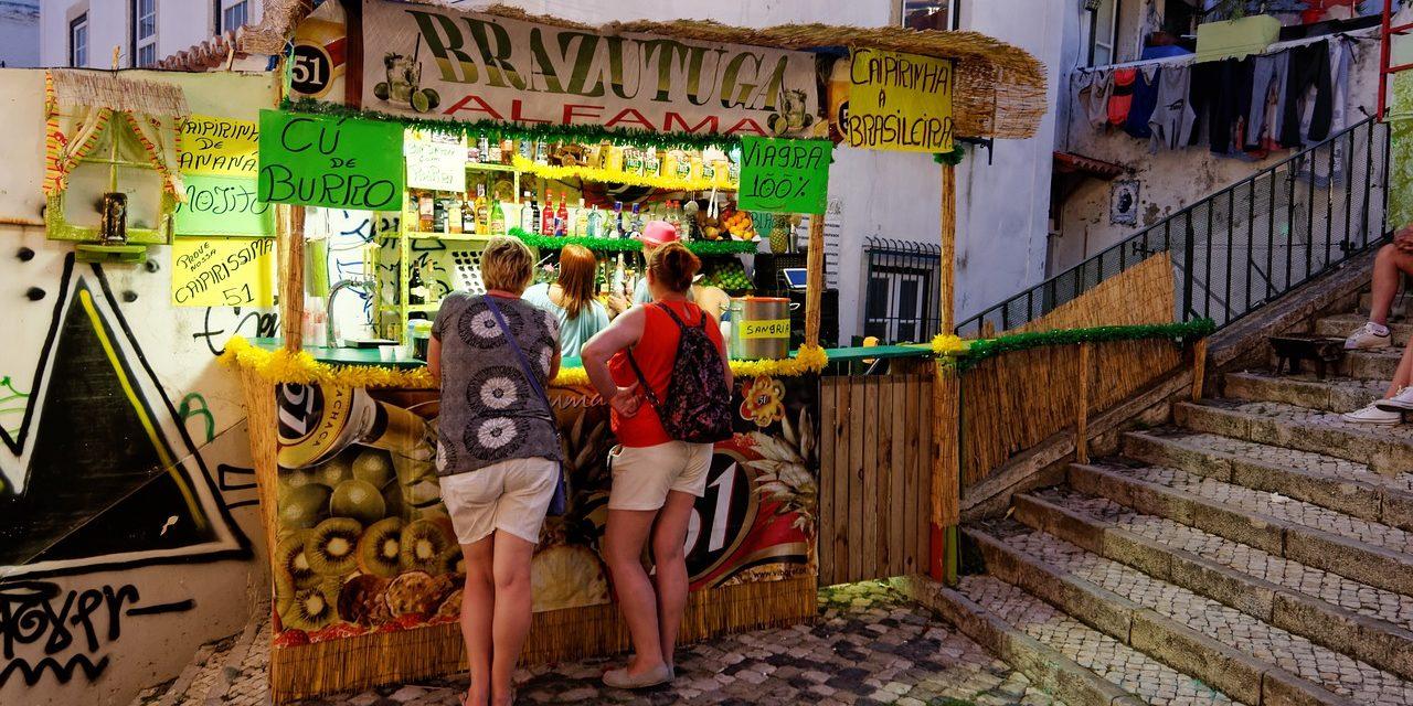 Lisbon Alfama food stall