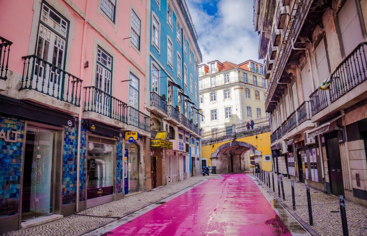 Lisbon Pink Street girls weekend away