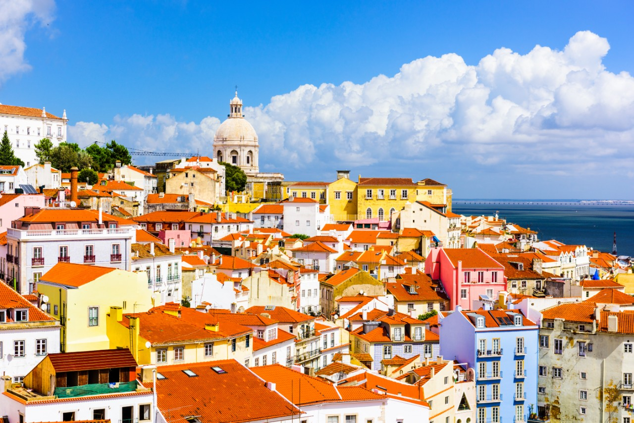 Lisbon Portugal Alfama Lisbon skyline