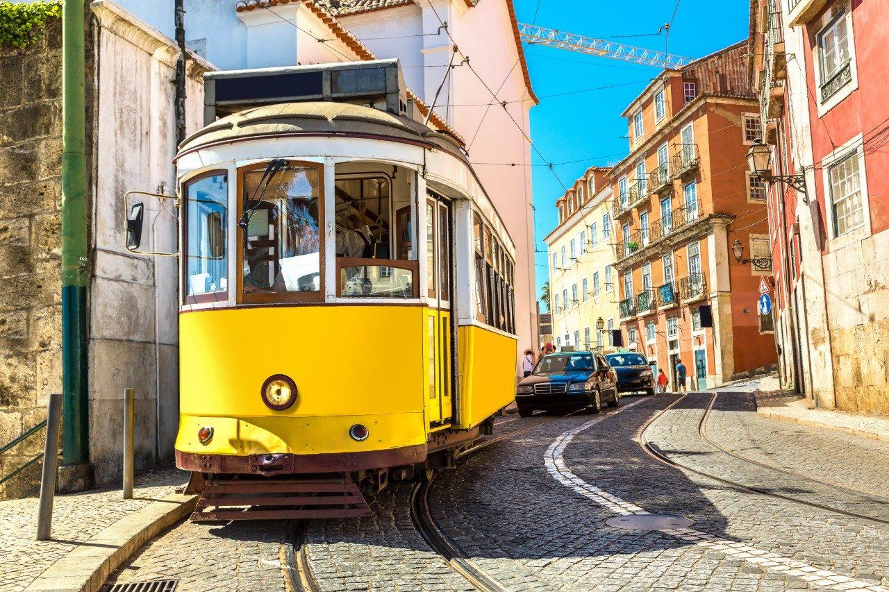 Lisbon Portugal vintage tram