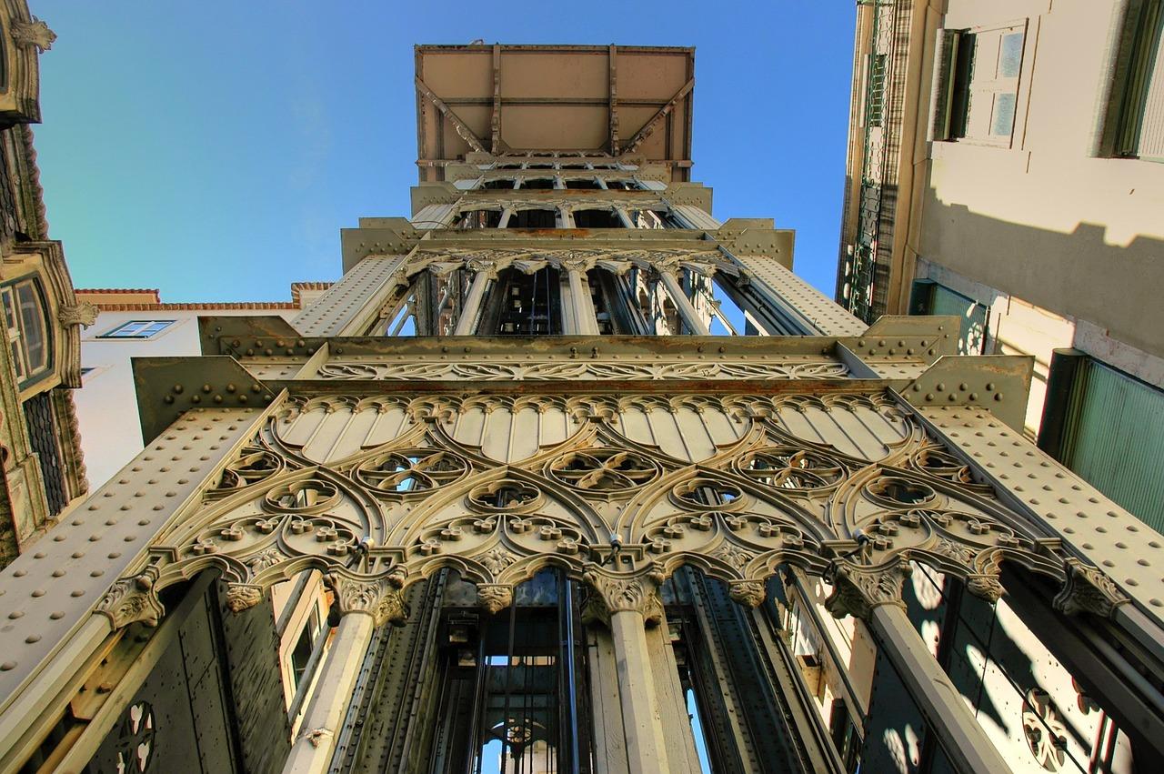 Lisbon architecture Santa Justa Lift