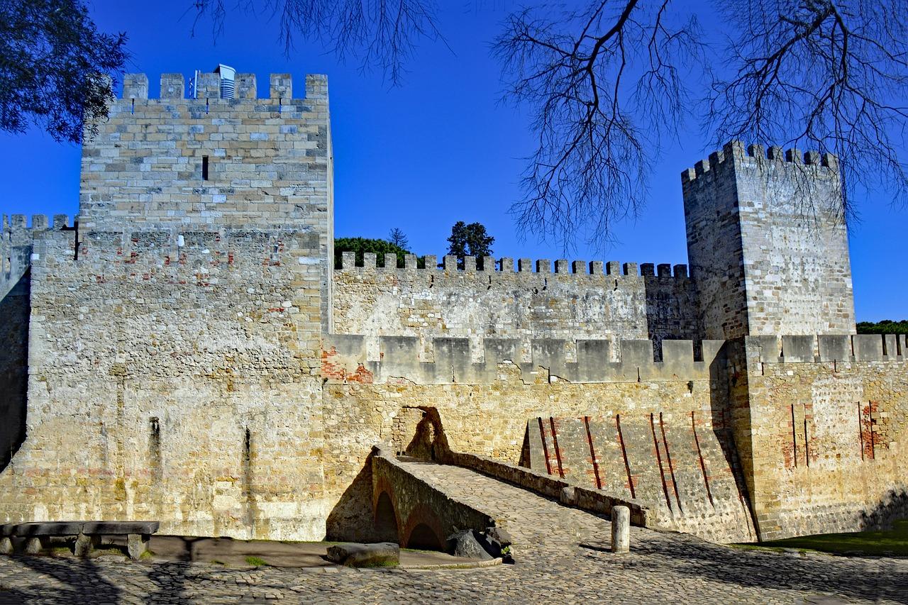 Lisbon architecture St. George Castle