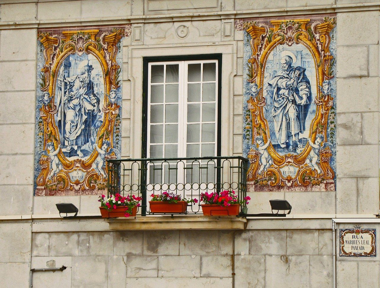 Lisbon tiles balcony
