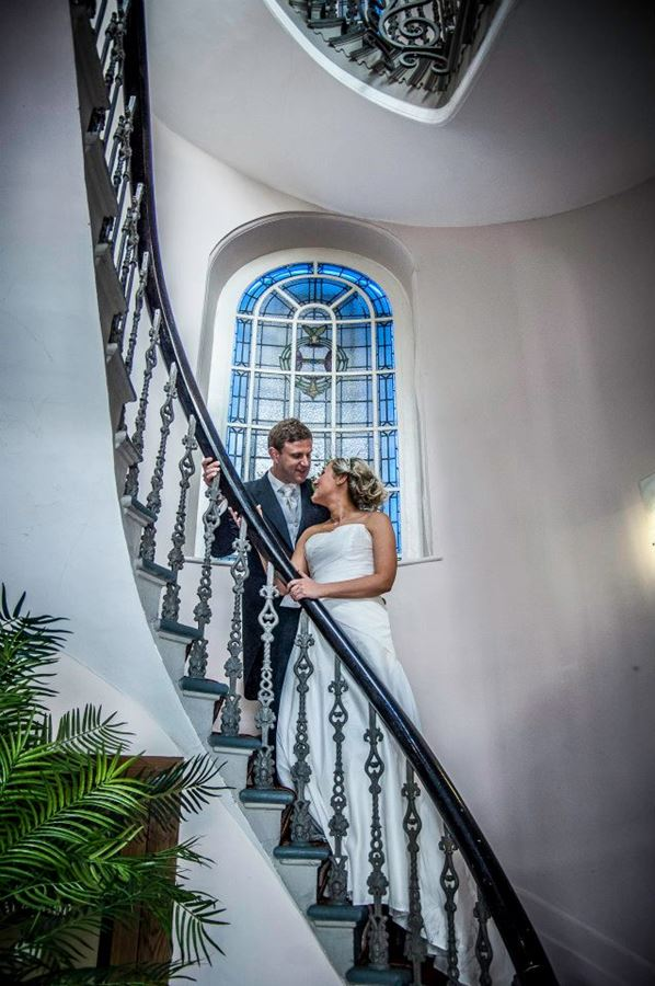 Ten Square Hotel Belfast wedding stairs