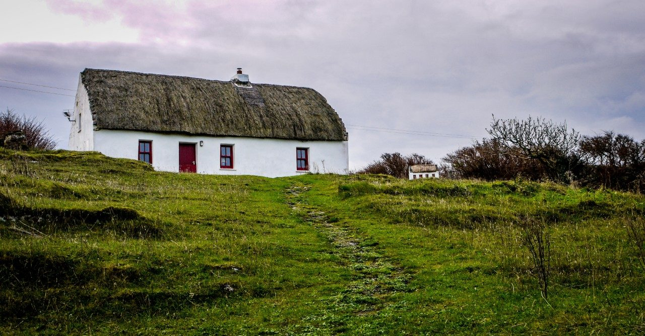 Connemara thatched cottage on Inis Mor