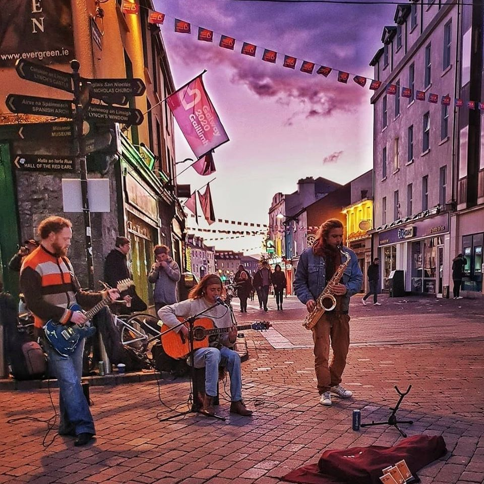 Galway music buskers