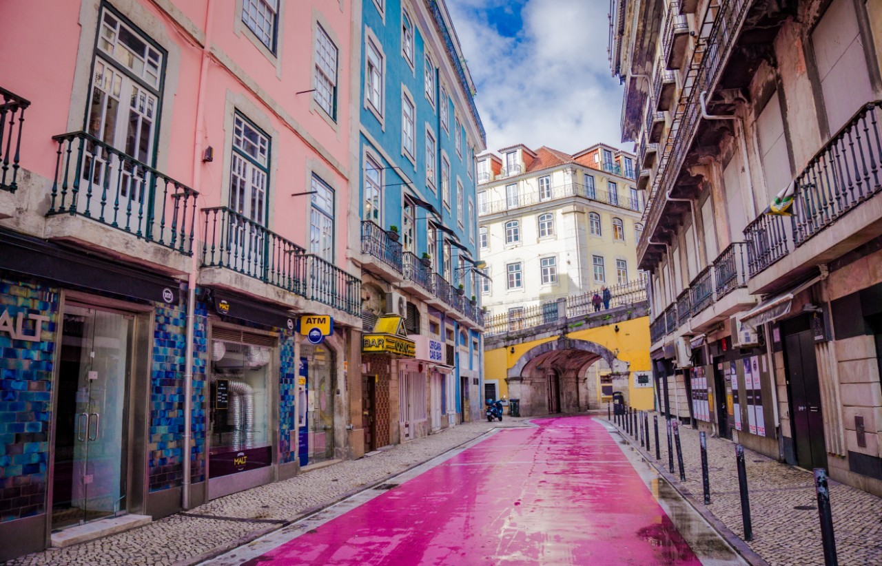 Lisbon for solo travellers Pink Street