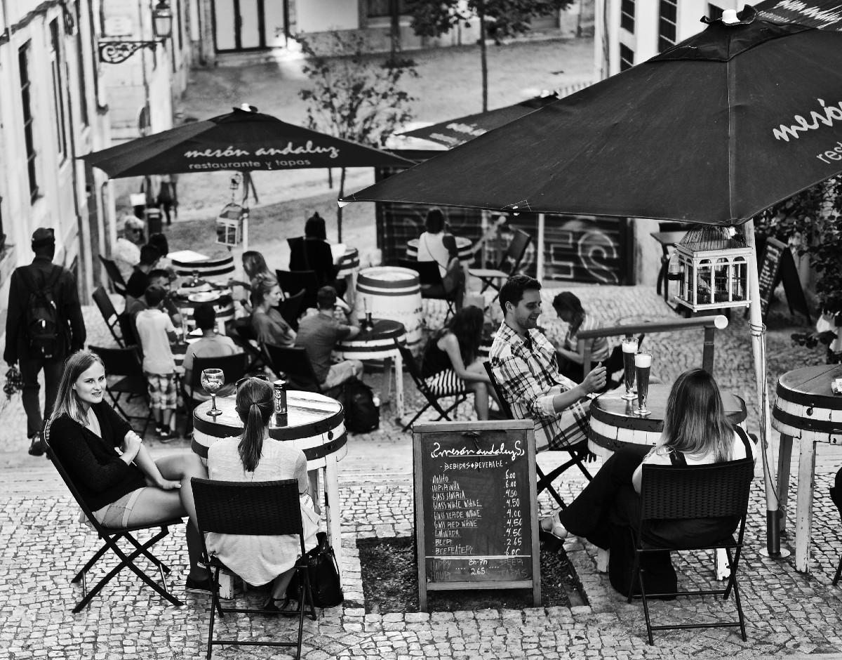 Lisbon solo travel street bar
