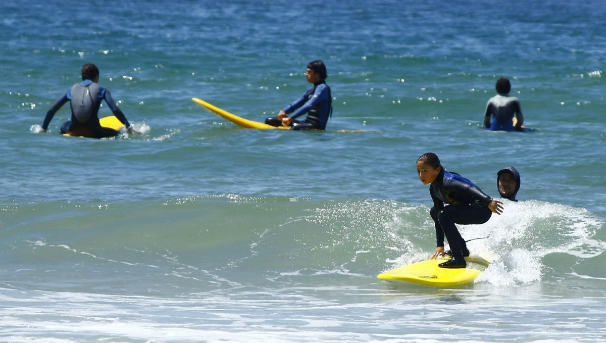 Lisbon surf holidays for families
