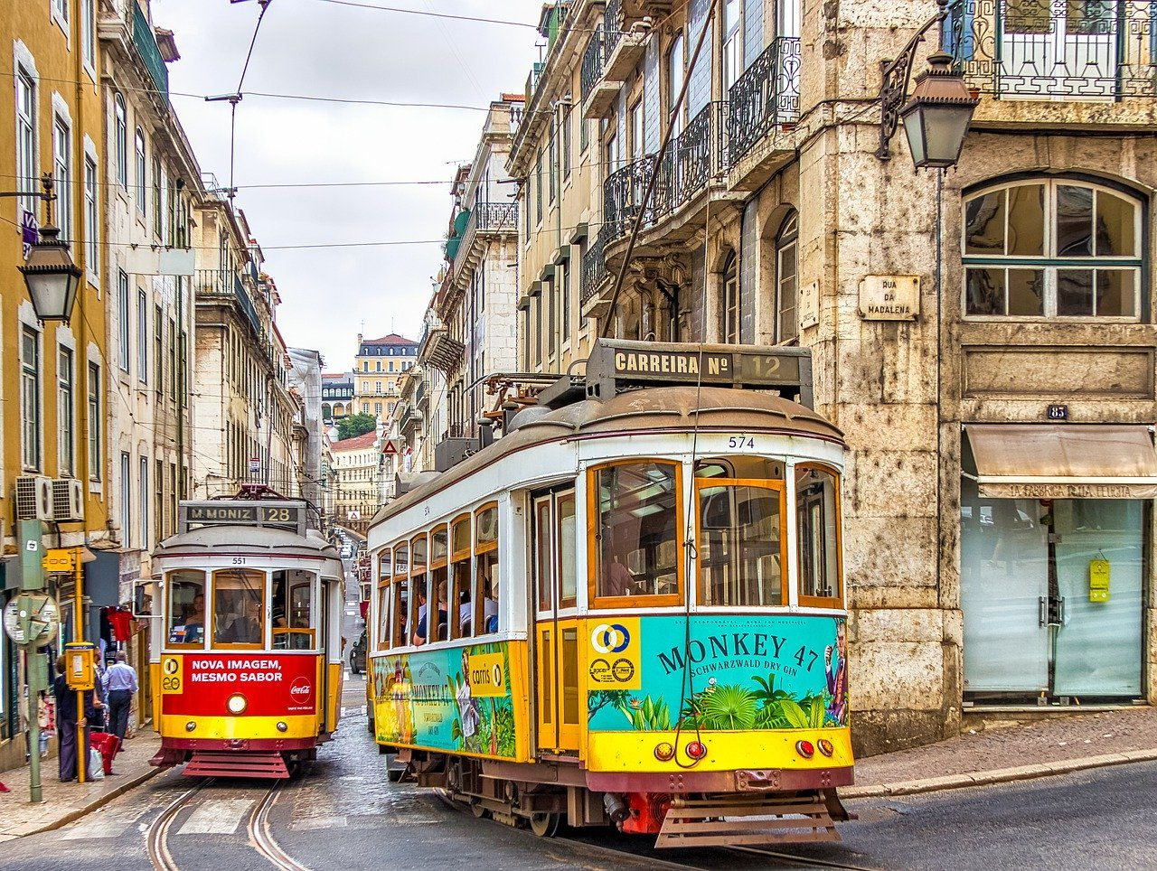 lisbon for millenials colourful trams