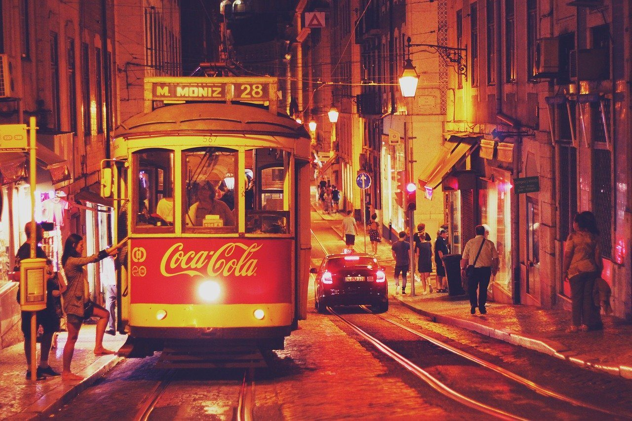 lisbon for young people coca cola tram