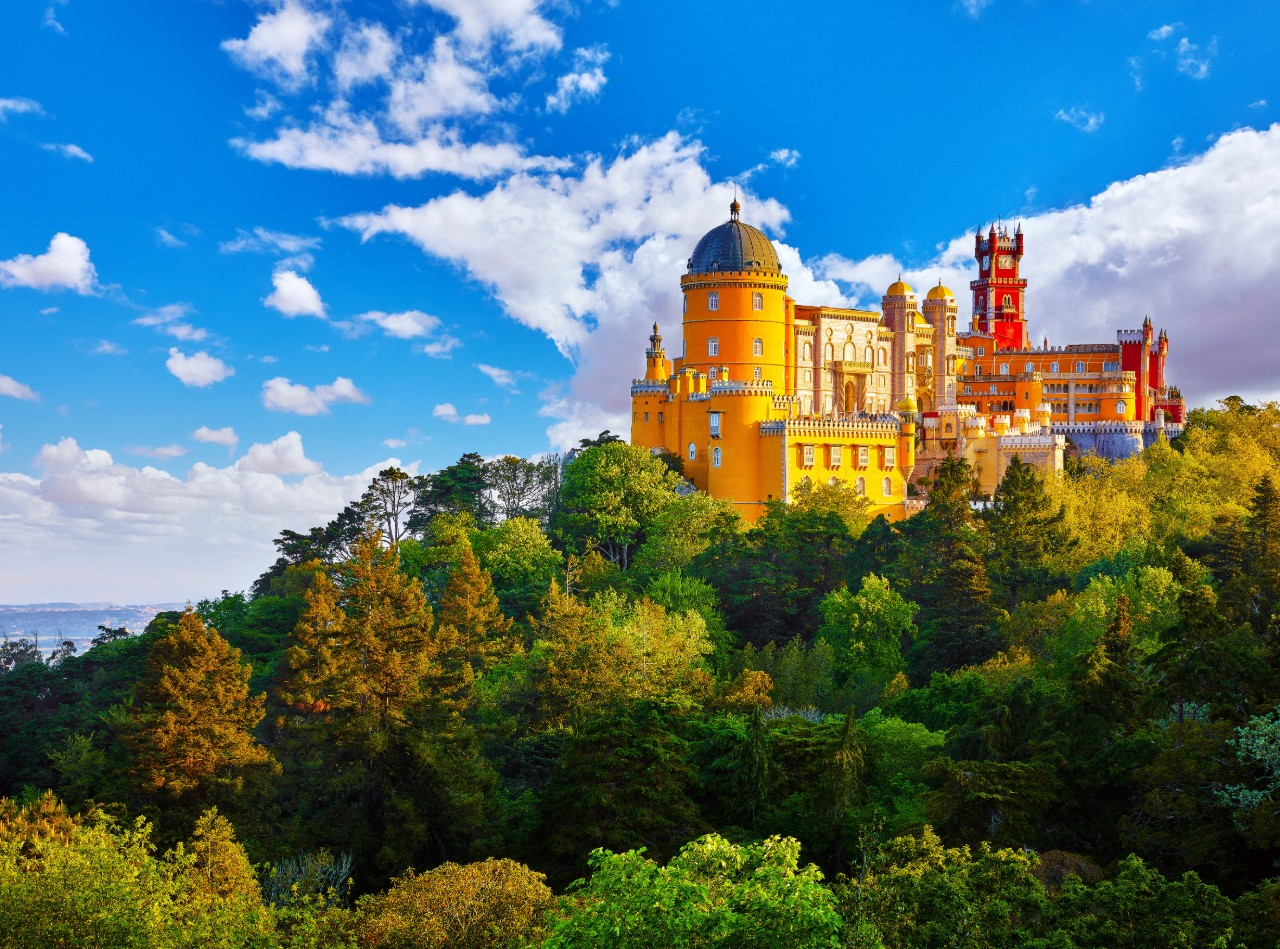 romantic places Lisbon Palace of Pena in Sintra