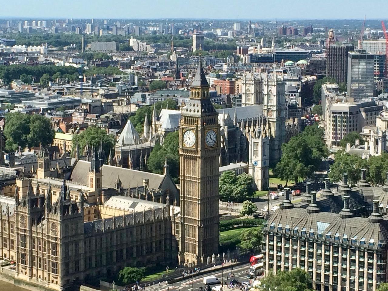 Big Ben London traveling post coronavirus