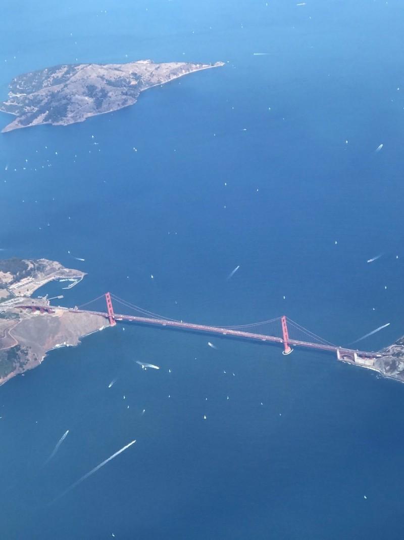 Golden Gate Bridge San Francisco air view