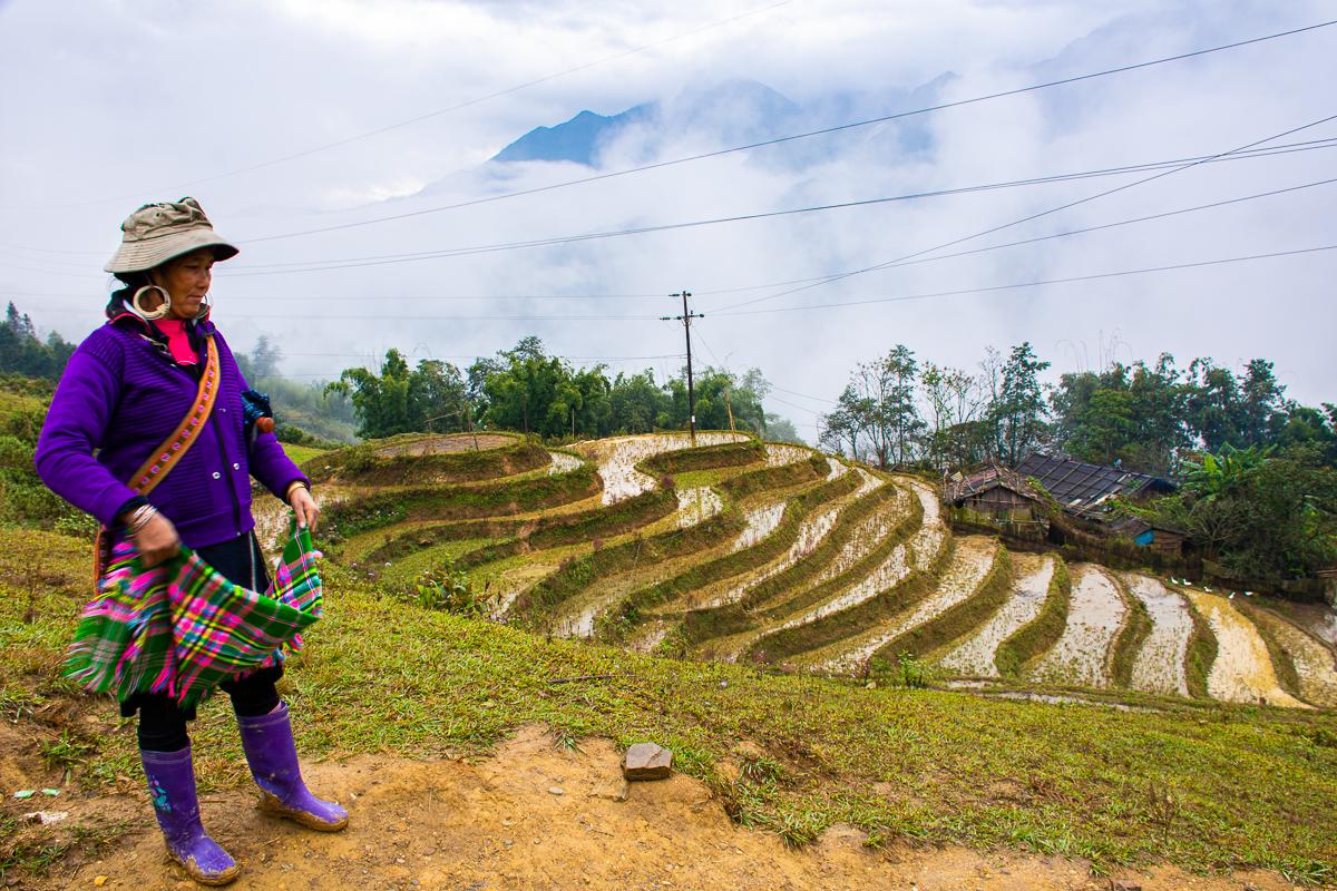 Sapa Vietnam local woman by Alex of Swedish Nomad