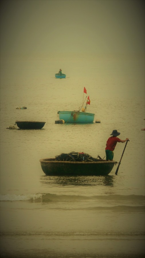 Basket boats, an example of impressive engineering, dot the waters of Da Nang 2