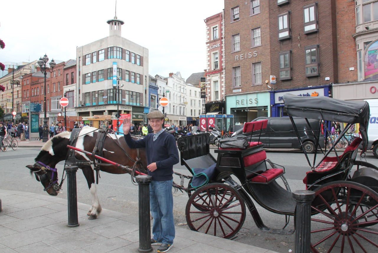 Dublin with Derek Culley iconic horse drawn carriages Dublin character