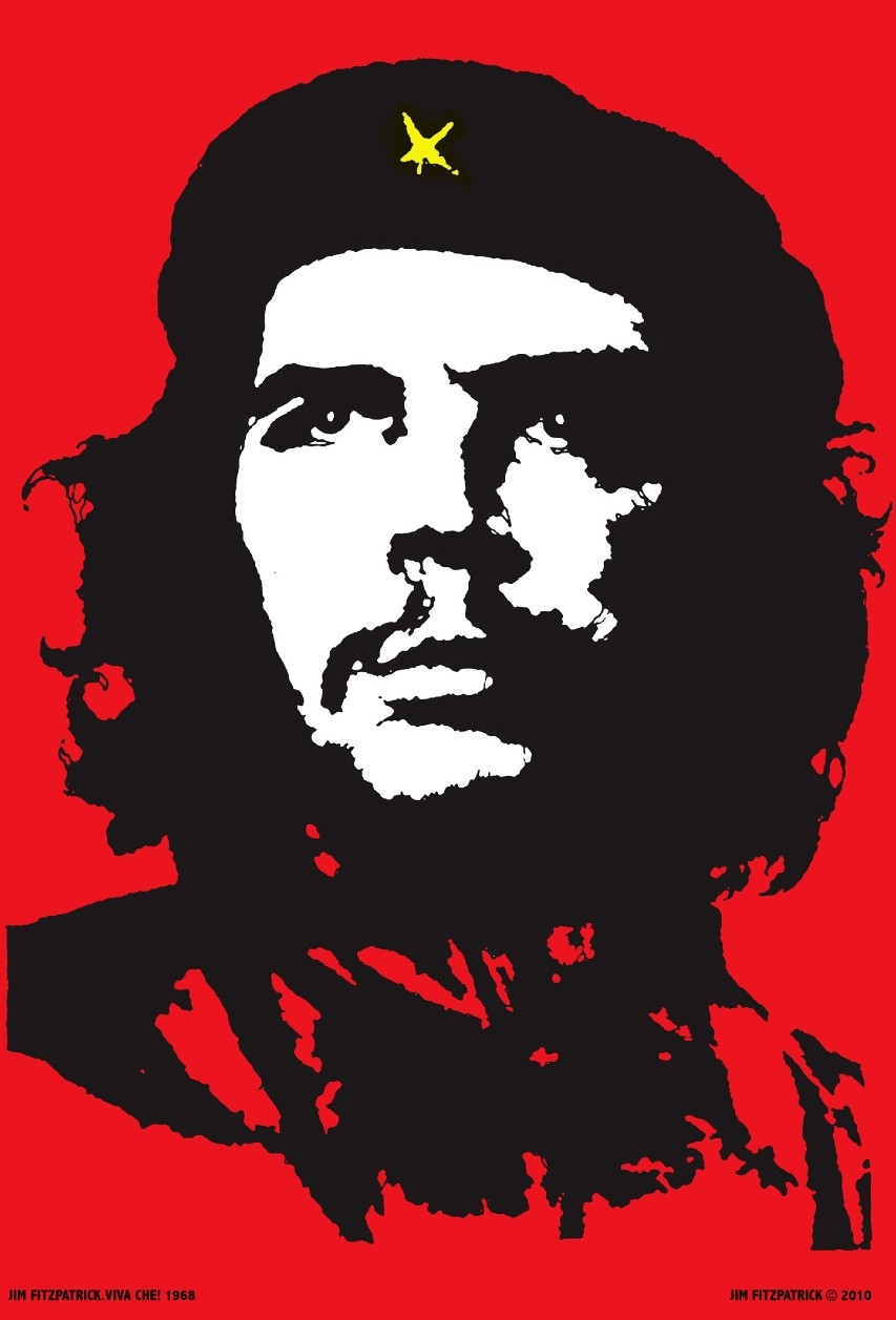 The world-famous image of Che Guevara by Jim Fitzpatrick