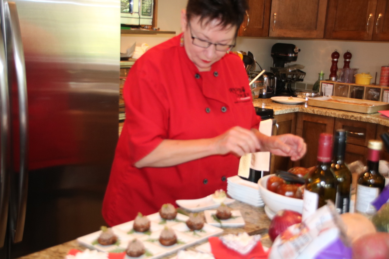 indigenous tourism BC Chef Shirley Lang prepares dessert
