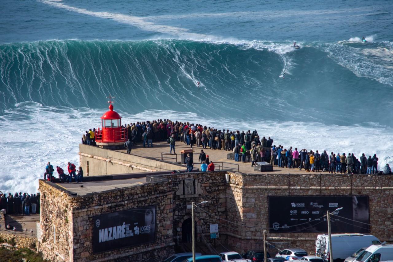 Nazarè big wave retirement in Portugal locations