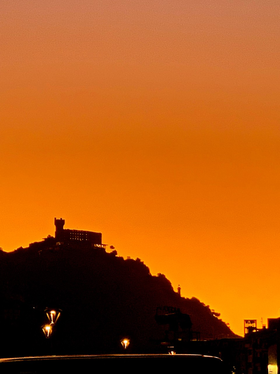 San Sebastian-Isla Santa Clara at Sunset