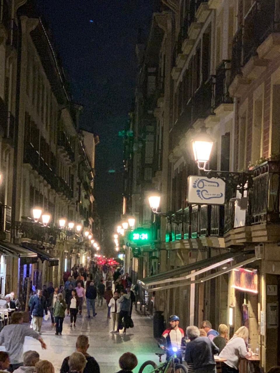 San Sebastian-Lively Night Streets