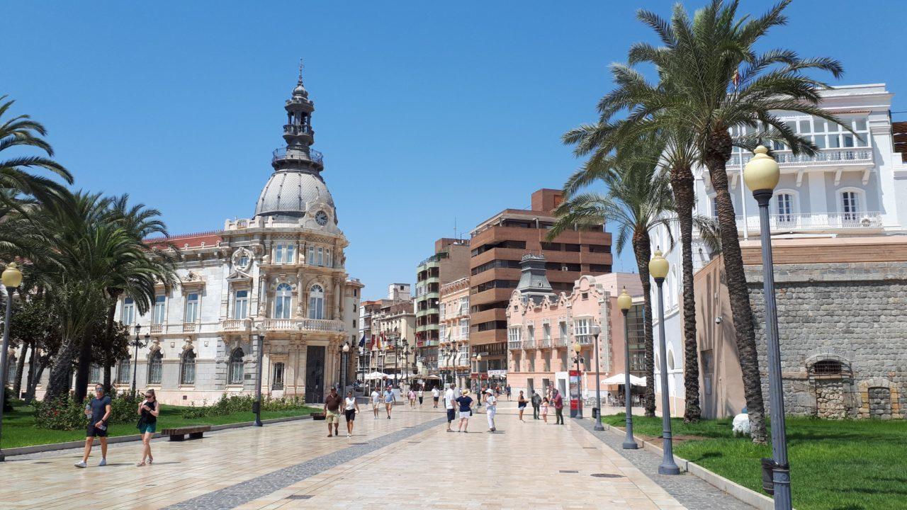 Cartagena architecture streets Spain