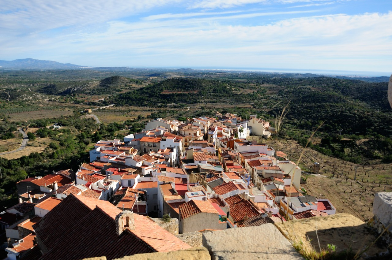 Cervera del Maestre Spain aerial views