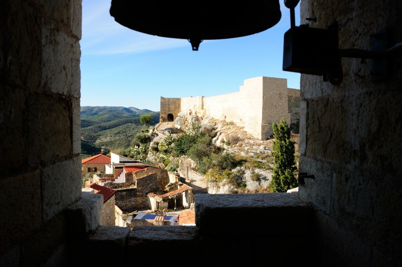 Cervera del Maestre Spain church bell and views