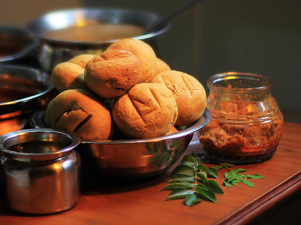 best vegetarian dishes India Dal Baati