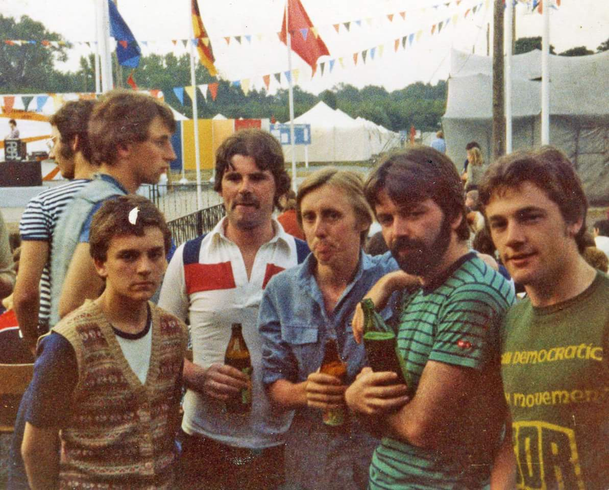 Henry McDonald in DDR 1981 East Berlin on our camp with some Irish comrades 1981..me the child on the far left