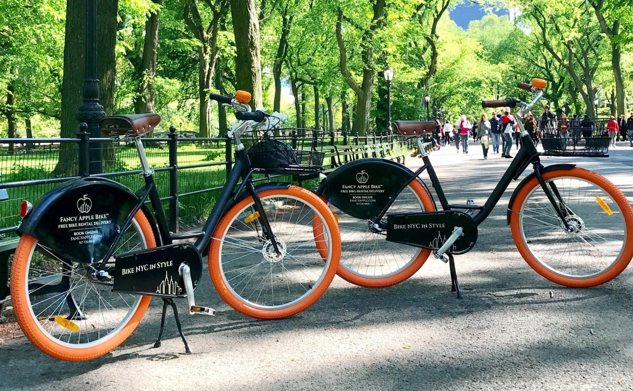 Fancy Apple Bikes in Central Park
