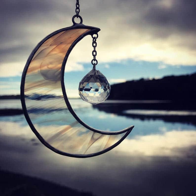 Strangford Lough Ann Smyth stained glass moon sun catcher